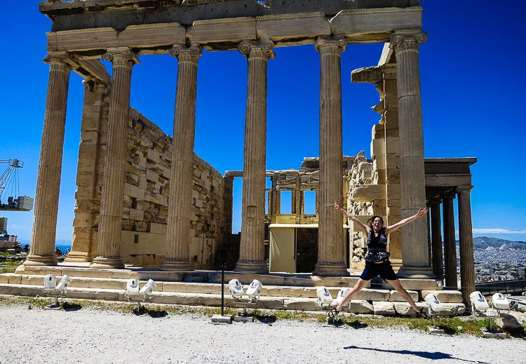 Jumping for joy in Greece after travel unlocked a secret new layer of understanding!
