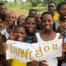 Thanks from Youth Creating Change of Ghana!