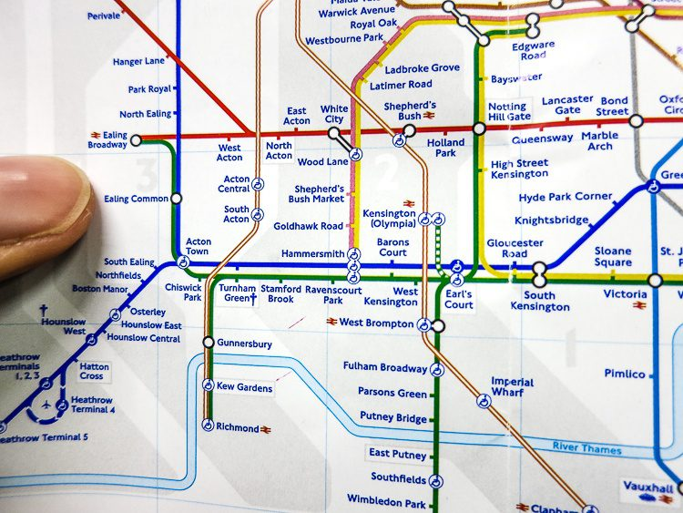 Hop on the Tube from Heathrow Airport to the best stop...