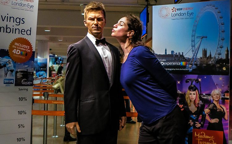 Find David Beckham and kiss him. (Or a plastic version by the London Eye.)