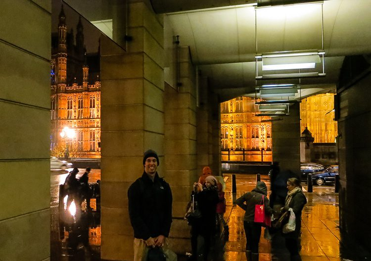 This overhang will keep you dry from the ubiquitous fog as you photograph Big Ben.