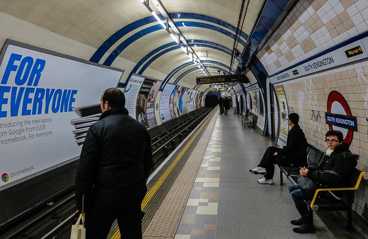 London's Tube looks very tubular... dude.