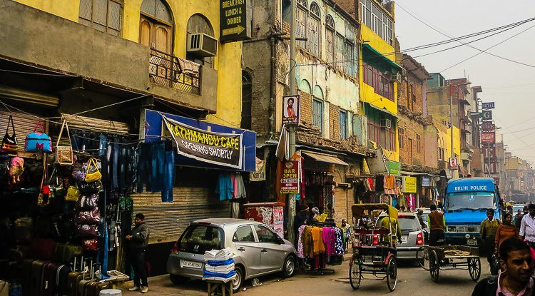 Paharganj, New Delhi is known for its shopping and budget hotels.