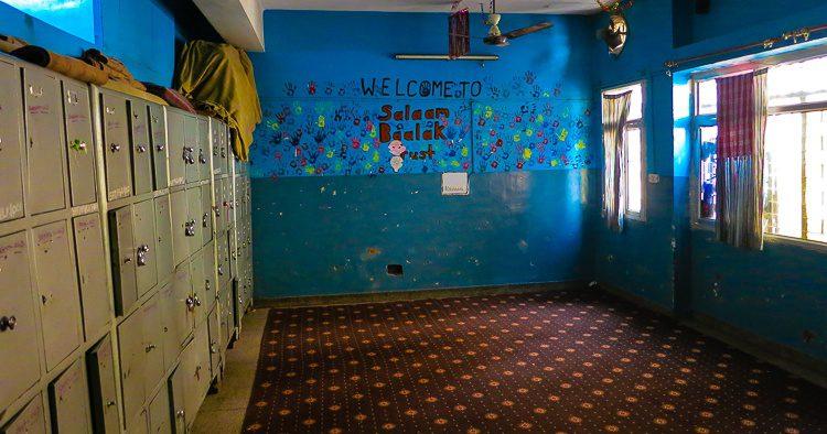 A classroom in Salaam Baalak Trust.