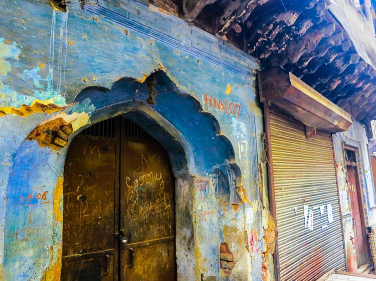 A lovely doorway in the Paharganj neighborhood of Central Delhi, India.