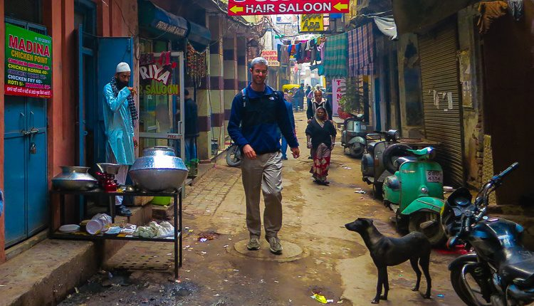 """I love this photo of my 6'7″ brother, onlookers and dog! And """"Hair Saloon."""""""
