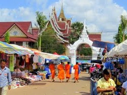 Around Vientiane, led by Orange-Clad Monks!