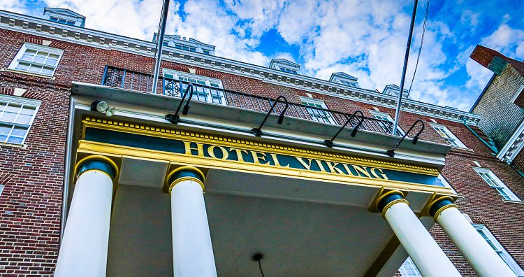 The lovely hotel in Newport where we could relax at last.