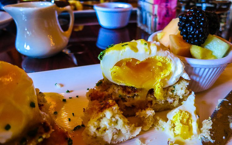 This crab cake eggs benedict put me in a luscious food coma for hours.