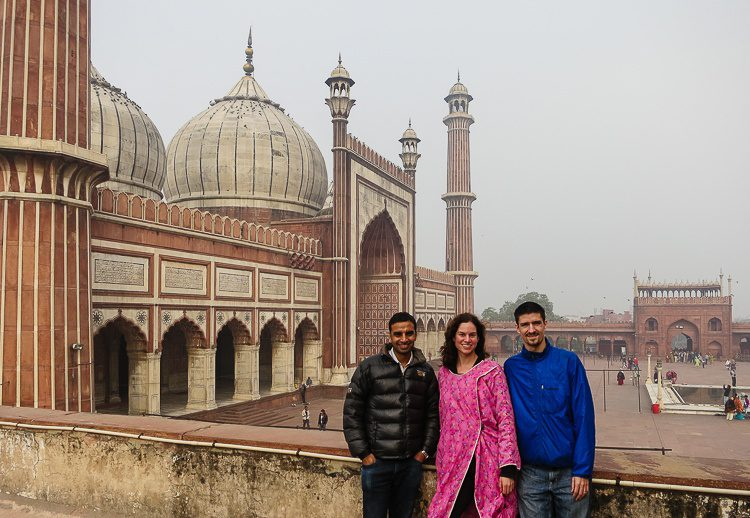 We spent Christmas at Jama Masjid, the largest mosque in India!