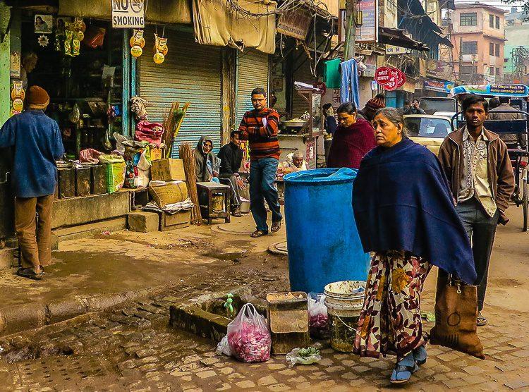 We saw few women walking in Old Delhi.