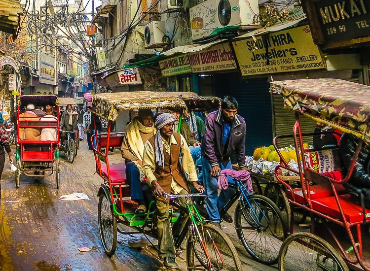 The transportation and fashion of Old Delhi differ so much from Boston!