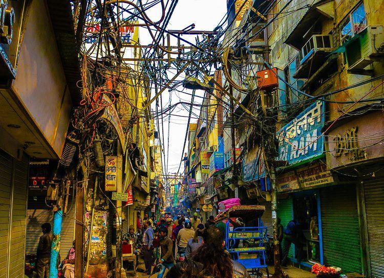 Isn't this Old Delhi street scene unbelievable?
