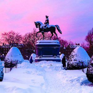 Beautiful Boston Under Two Feet of Blizzard Snow
