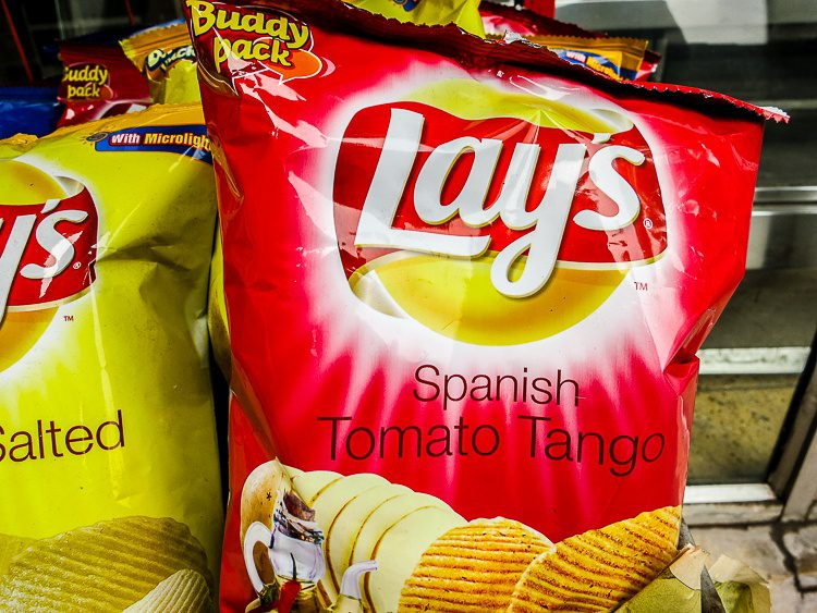 Interesting that the only other foreign flavor of Lay's was Spanish!