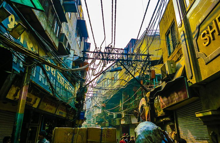5. That spiderweb of electrical wires in Old Delhi never ceases to amaze!