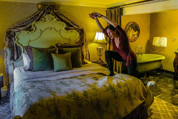 Then it was time to sleep in our luxurious room modeled after a Newport mansion modeled after a European mansion!