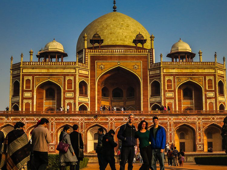 All three of us loved touring beautiful Humayun's Tomb.