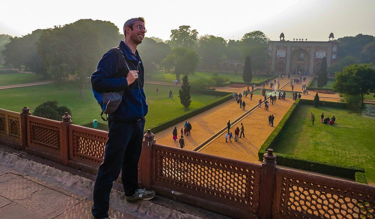 Even the grounds are pretty. Here, my brother stands atop the main building.