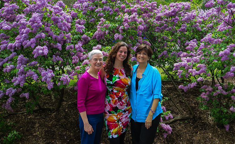 At Lilac Sunday in Boston with my beloved Mother, Colin's Mother, and me... a Mother-to-be!