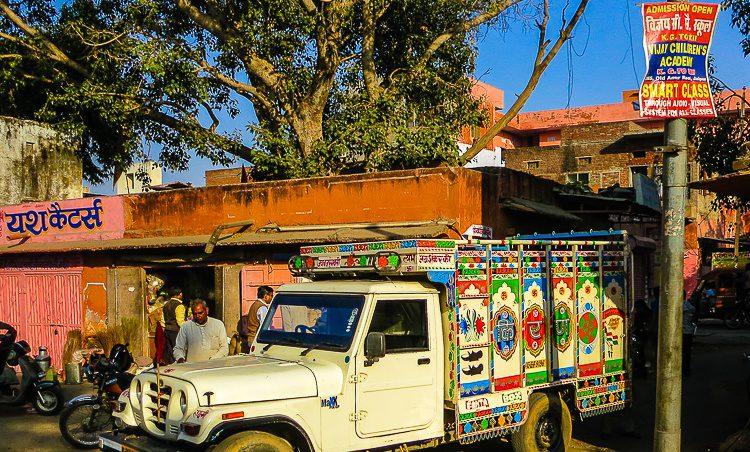 India decorates its trucks nicely.