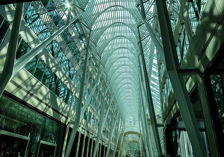 Wow! Allen Lambert Galleria in Brookfield Place, Toronto.
