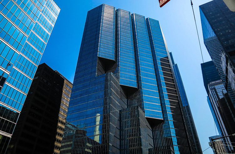 """I love the use of glass """"stairs"""" on many of Toronto's skyscrapers."""