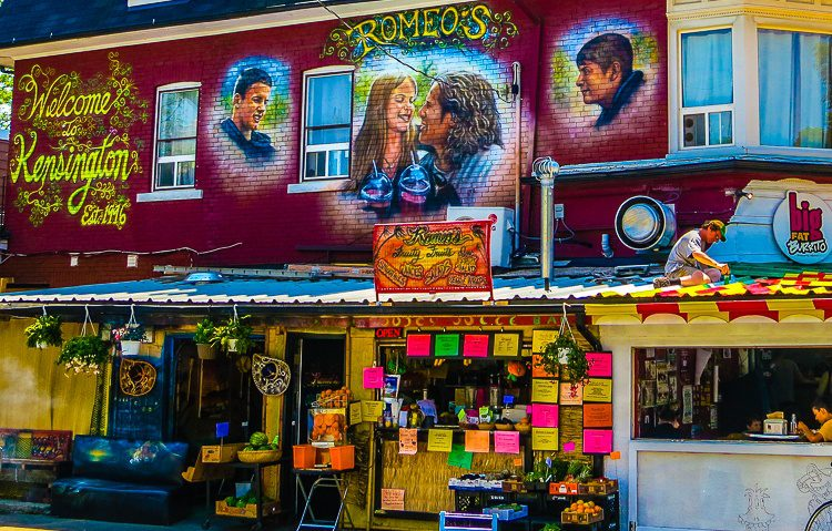 The colorful first building of Kensington Market.
