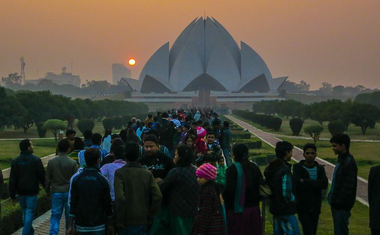 The beautiful Lotus Temple in New Delhi, India: One of many sights I've seen in 4 years of travel blogging!