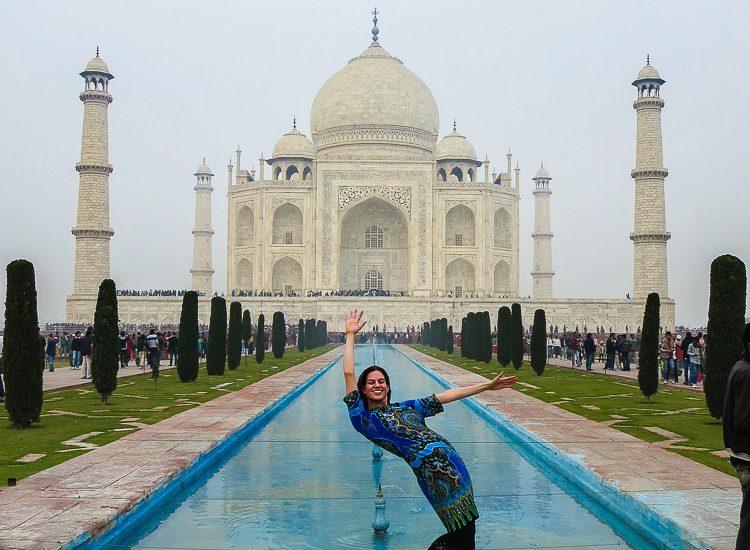 "Representing Around the World ""L"" at the Taj Mahal in India!"