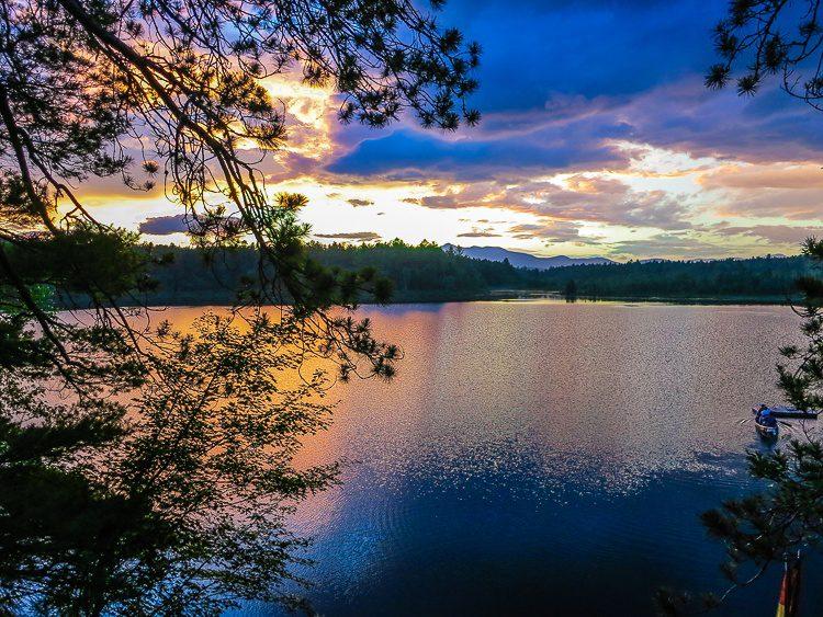 The sunset began subtly...