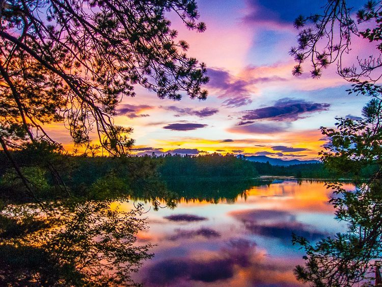 The sunset in New Hampshire was a work of art.