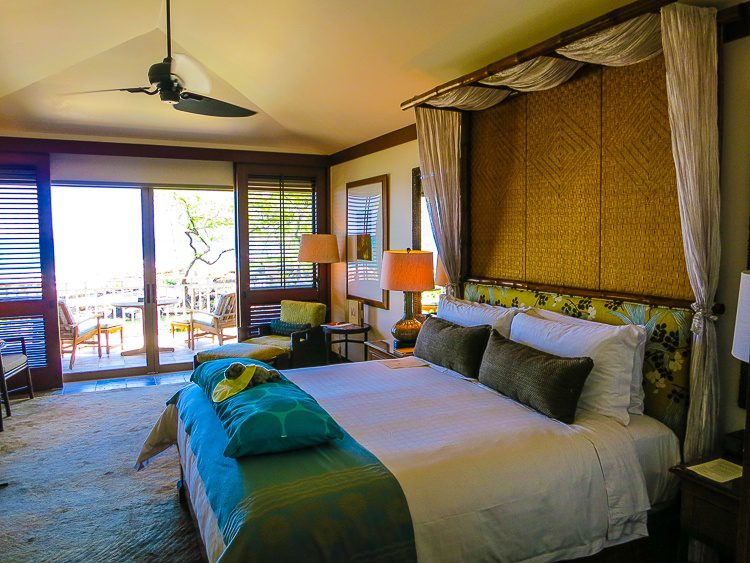 Our luscious room at the resort. Those doors overlook the sea!
