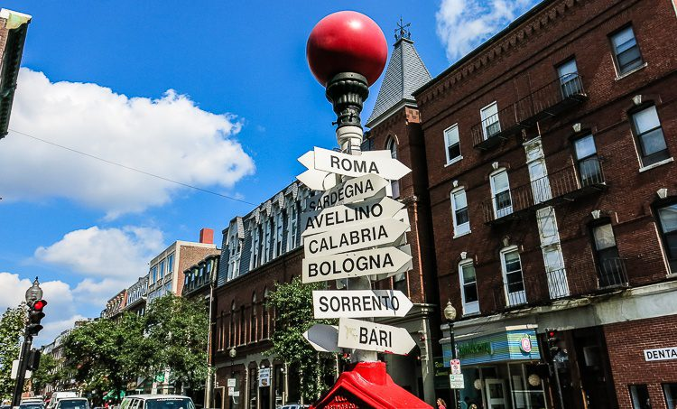 The North End is the closest you'll come to Italy in Boston.
