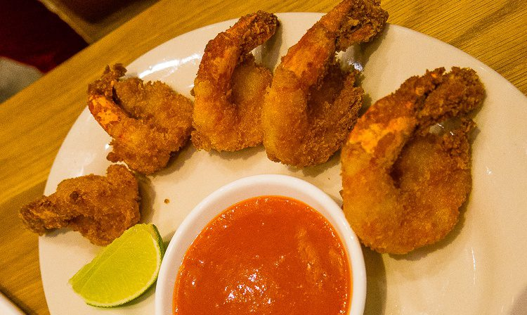 Amazing fried shrimp.