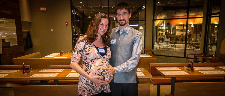 Bowling ball preggo belly is happy about our Wagamama feeding frenzy.
