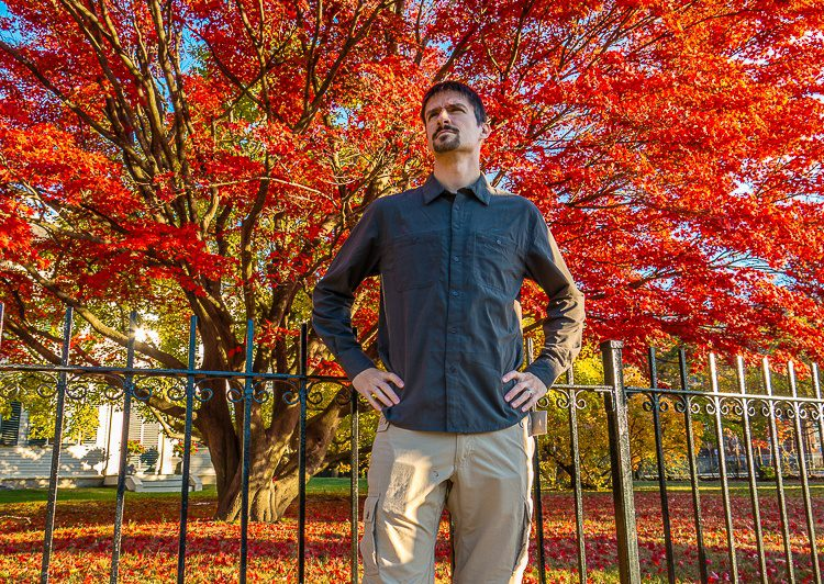 Pretty fashionable clothes for being so practical! (Gorgeous backdrop thanks to autumn in Boston.)