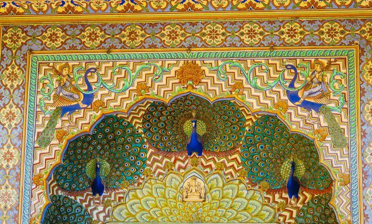 Detail of a peacock door... Wow!