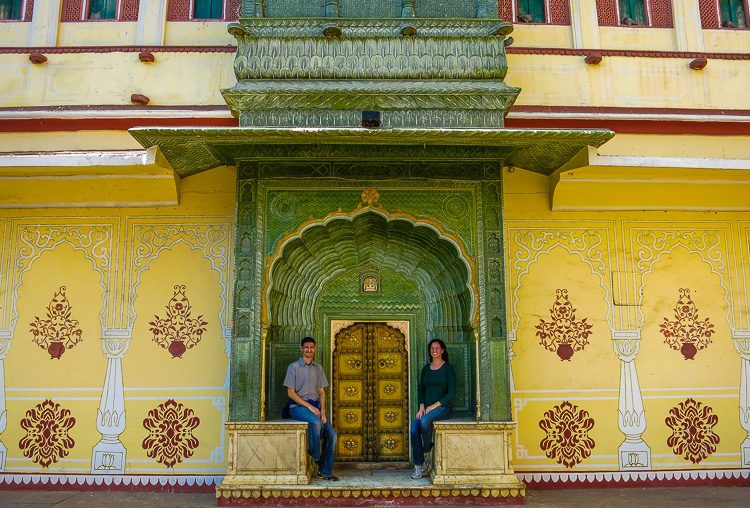 One of several phenomenal doorways in Jaipur, India's City Palace.