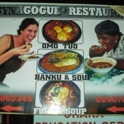 My Face Is on a Restaurant Advertisement in Africa?!