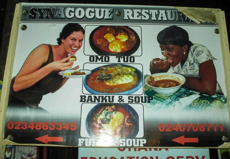 Yup, that's me on a restaurant advertisement in Ghana.