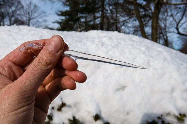 I kind of want to poke someone with this evil icicle, but it would hurt!