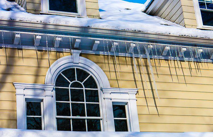 Dangerous icicles.