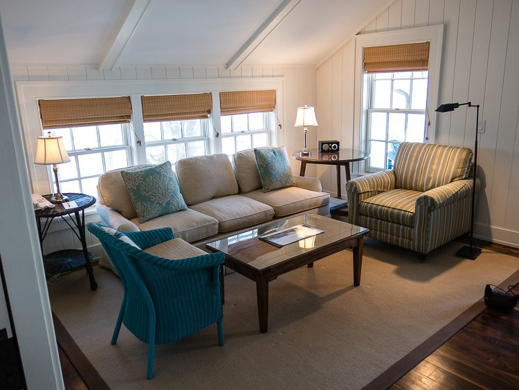 "The living room of our ""Captain's Cottage."""