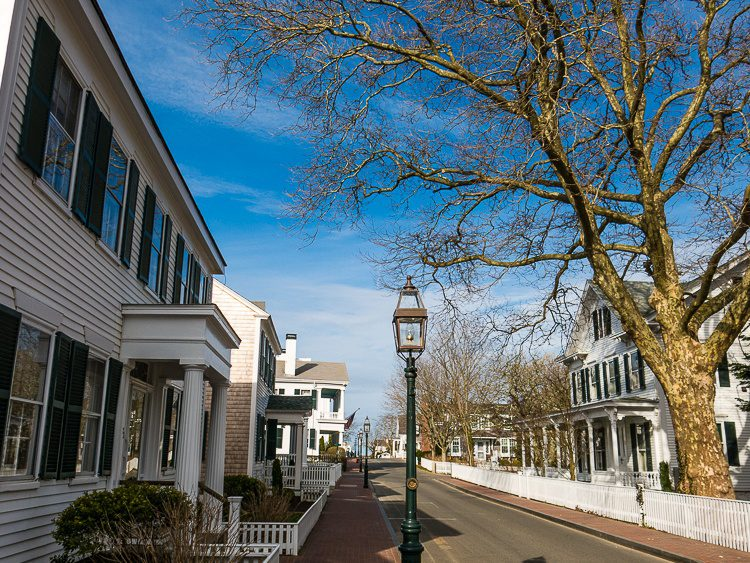 Edgartown, Martha's Vineyard was serenely empty during our visit.