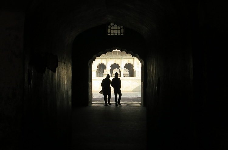 The archways at Agra Fort make for splendid photos.