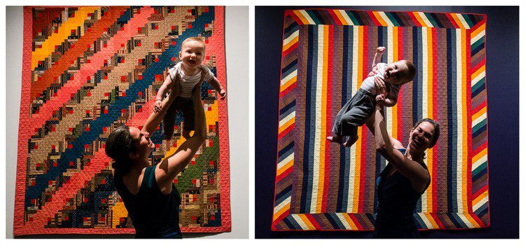Baby and quilts