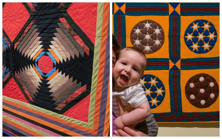Look at the detail on these quilts!