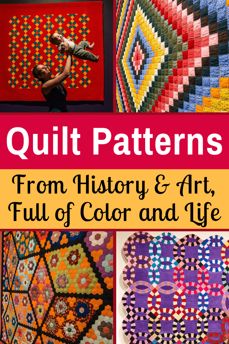 Quilting ideas from the historic American quilt patterns in this colorful, fun quilt museum exhibit fun of women's history at the Museum of Fine Arts, Boston. #Quilting #quilts #artinspiration