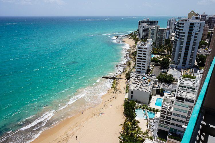 Condado beach looks amazing from 19 stories up!